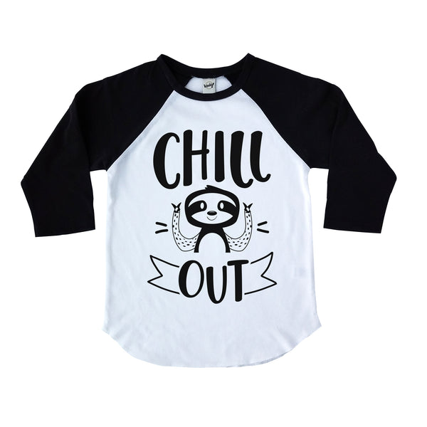 Chill out black kids raglan