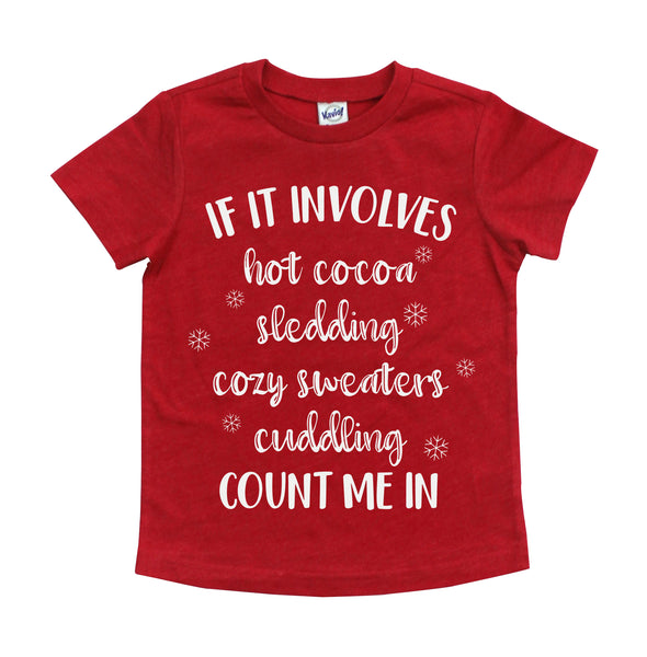 Count Me In Kids Tee  |  White Print