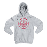 Craft Beer & Christmas Cheer Gray Hoodie  |  Red Ink