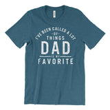 Dad is my favorite heather deep teal unisex tee
