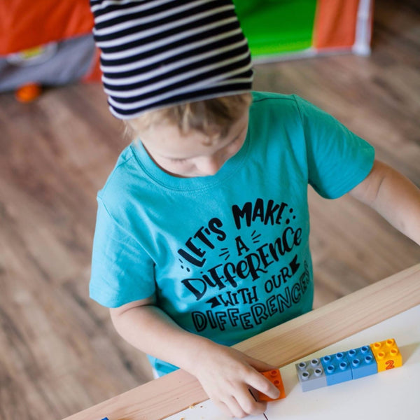 Let's make a difference with our differences caribbean kids tee
