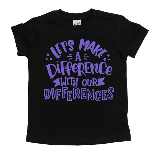 Let's Make a Difference Tee - Light Purple Ink
