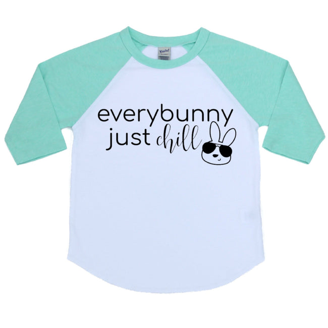 everybunny just chill mint raglan