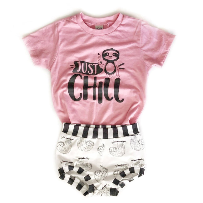 Just chill pink kids tee
