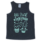 Let's Stick Together YOUTH Tank  |  Tranquil Blue Ink
