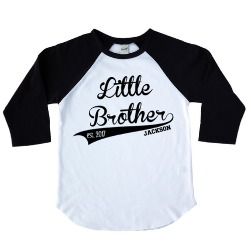 little brother black kids raglan