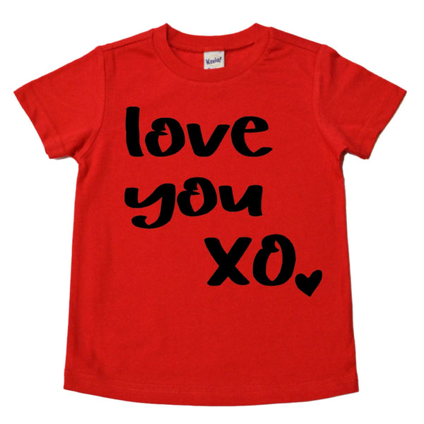 Love you XO red kids tee