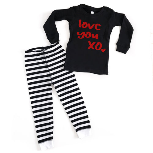 Love You XO Infant & Toddler PJ's - Red Design