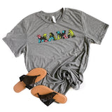 Mama Floral Gray Triblend Crew Neck Tee