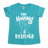 I'm Having a Meltdown Tee  |  White Ink