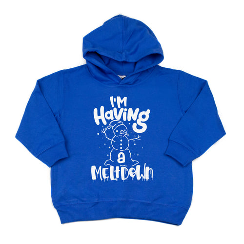 I'm Having a Meltdown Kids Hoodie  |  White Ink