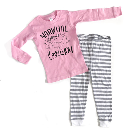 Love You XO Infant & Toddler PJ's - Black Design