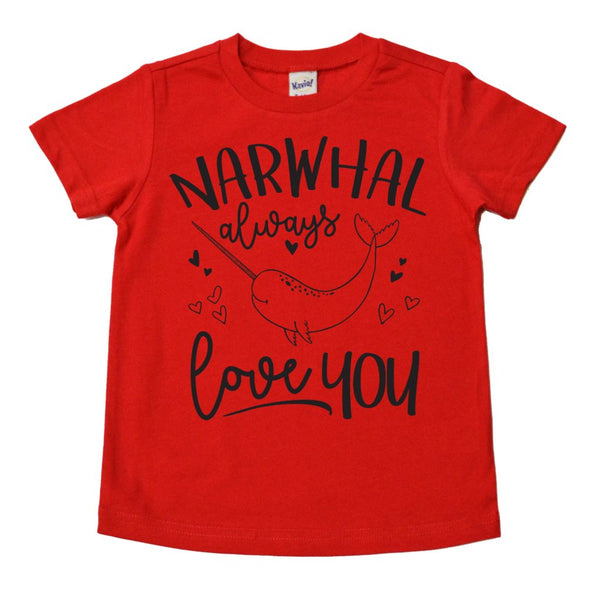 Narwhal Always Love You Tee - Black Ink