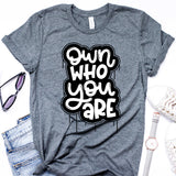 Own Who You Are Deep Heather Tee