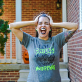 I Got Chills They're Multiplying Gray Triblend Tee  |  Black & Neon Green Ink
