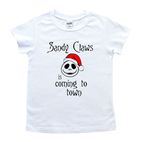 Sandy Claws is Coming to Town Kids Tee