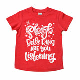 sleigh bells ring red tee