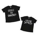 Where's my snacks - I ate the snacks kids tee set