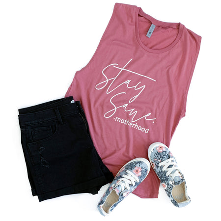 Just a Mom Cheerin' on Other Moms -Mamas Unite Deep Heather V-Neck Tee  |  Metallic Fuchsia Ink