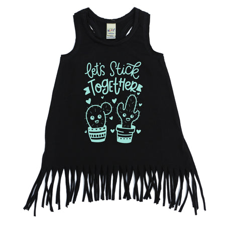 Wild Heart Fringe Dress  |  Black Ink