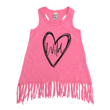 Wild at heart pink fringe dress
