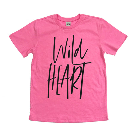 Raising Wild Hearts Black Mineral Wash V-Neck Tee