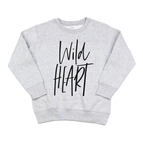 Wild Heart Gray Fleece Pullover  |  Black Ink
