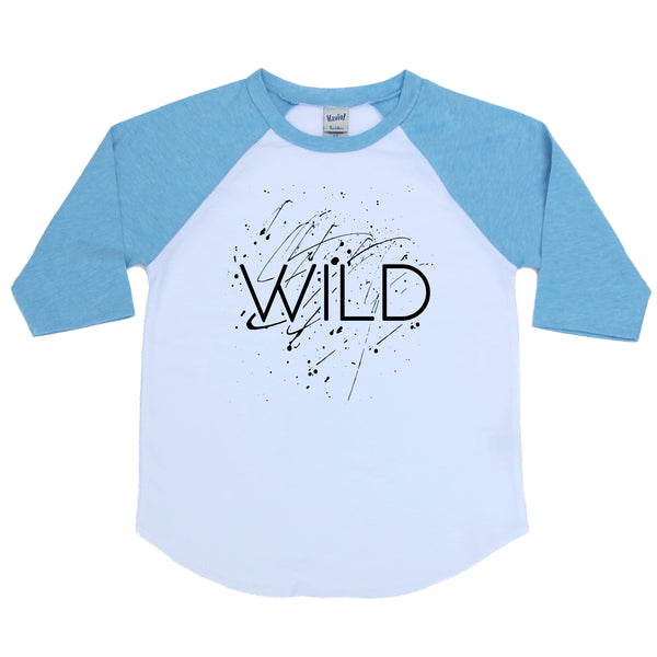 Wild Splatter Kids Raglan  |  Black Ink