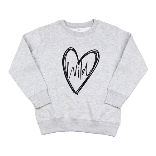 Wild At Heart Gray Fleece Pullover  |  Black Ink