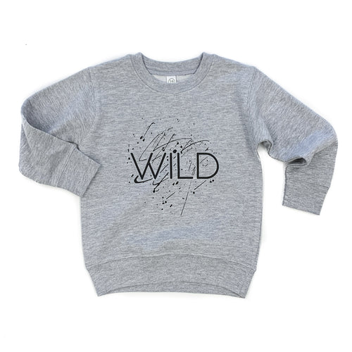 Wild Splatter Gray Fleece Pullover  |  Black Ink