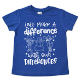 Holiday Let's Make a Difference Tee - White Ink