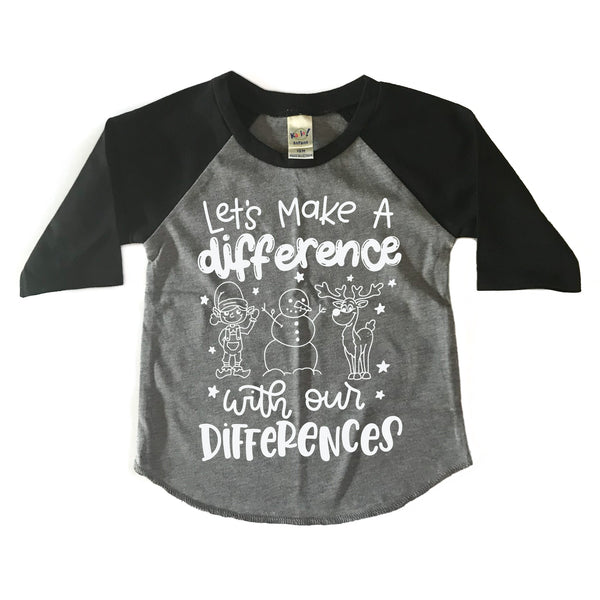 Holiday Let's Make a Difference Raglan