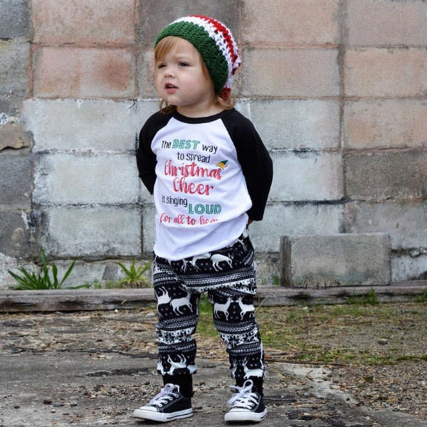The Best Way to Spread Christmas Cheer Kids Raglan