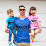 If You Think I'm Cool You Should See My Kid Heather Blue Tee  |  Black Ink