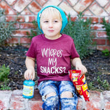 where's my snack kid's tee