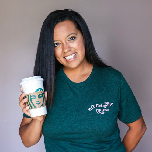 Caffeinated Mama Emerald Triblend Tee  |  Rose Gold Ink