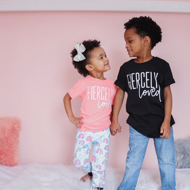 Fiercely Loved Kids Tee  |  White Print