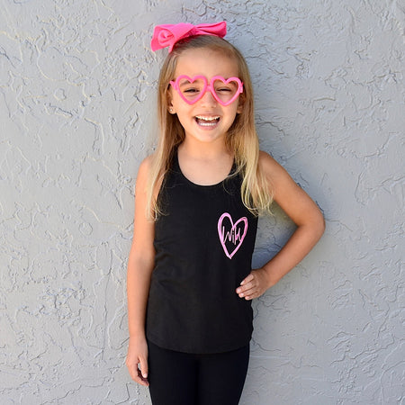 Fiercely Loved Kids Tank  |  Mint Print