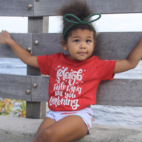 Sleigh Bells Ring Kids Tee  |  White Design