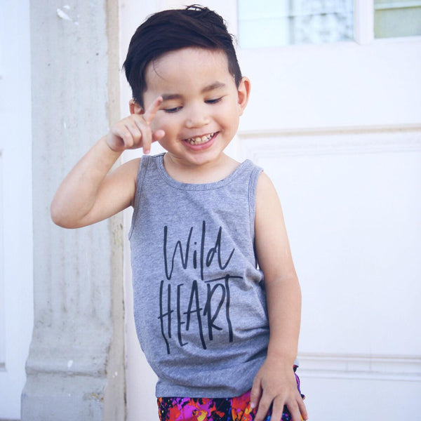 Wild Heart Kids Tank  |  Black Ink