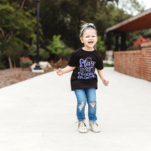 Slay Your Own Dragons Princess Kids Tee  |  Light Purple Ink