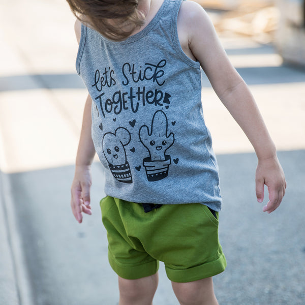 Let's Stick Together YOUTH Tank  |  Black Ink