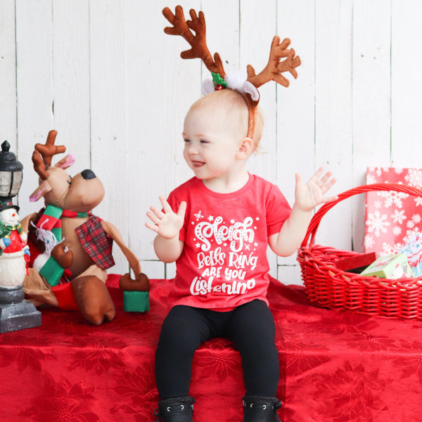 Sleigh Bells Ring Kids Tee - White Design