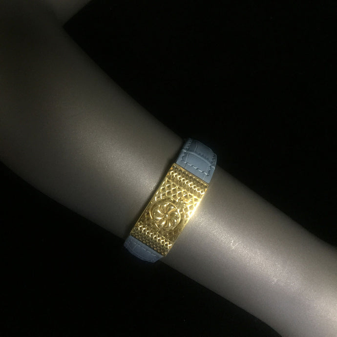 Gold Light Blue Bracelet