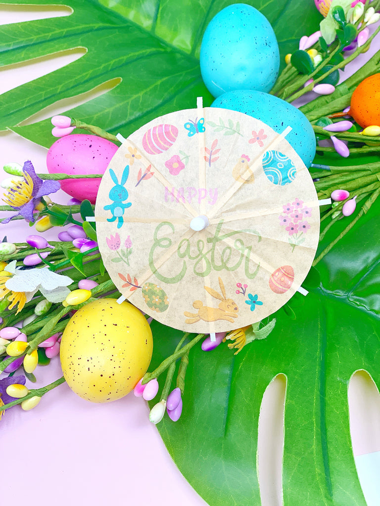 Happy Easter Cocktail Umbrella