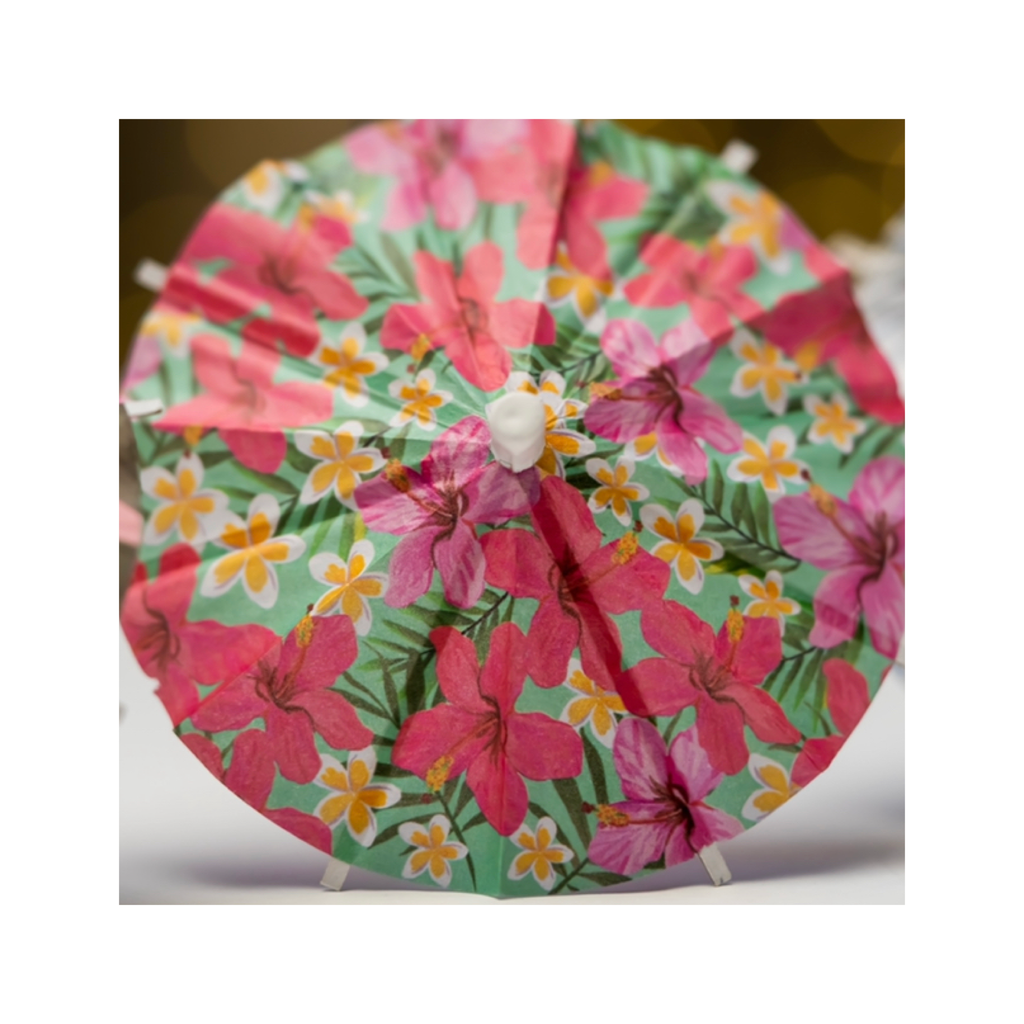 Hibiscus Cocktail Umbrella