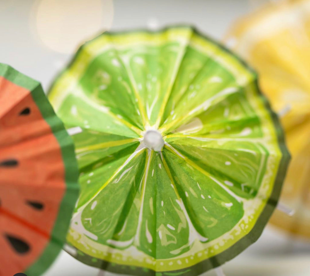 Luscious Lime Cocktail Umbrella