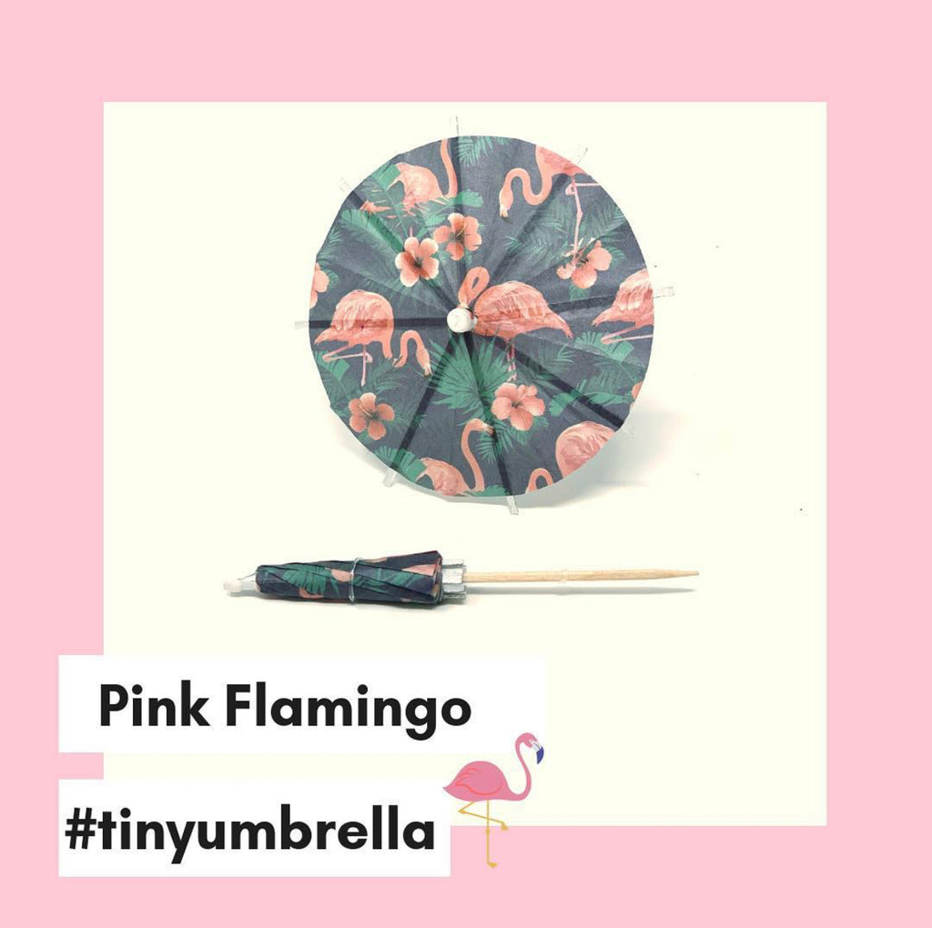 Pink Flamingo Cocktail Umbrella - The Tiny Umbrella