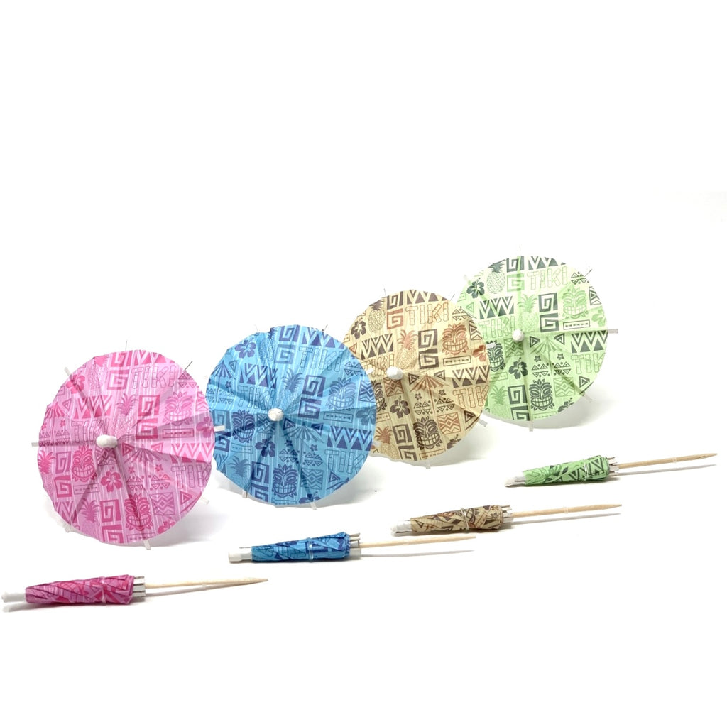 Traditional Tiki  Multicolor Set Cocktail Umbrella