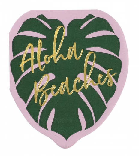 20 Ct Aloha Beaches - Beverage Napkin - The Tiny Umbrella